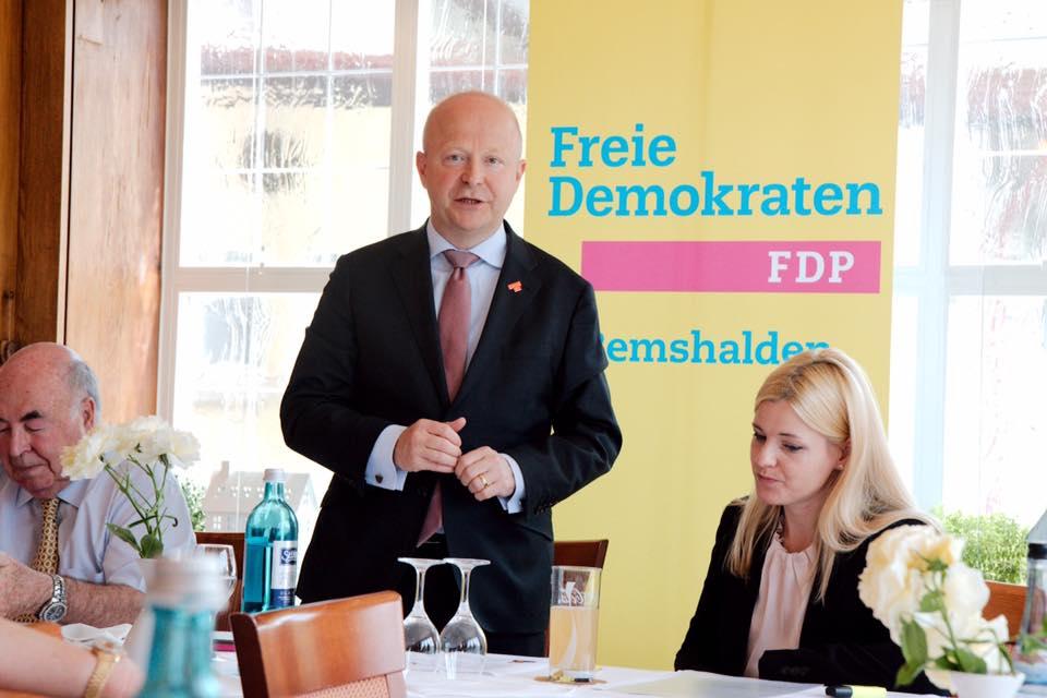 Spitzenkandidat Michael Theurer zu Besuch